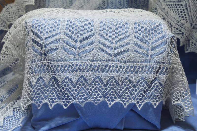 Knitting Pattern For Shetland Lace Shawl : Hand spun hand knit Shetland lace from Unst. Unst Heritage