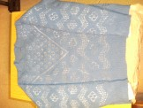 blue lace jumper